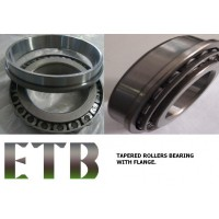 Flange on outer ring